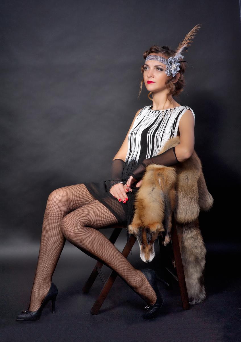 Портрет молодой женщины в стиле Чикаго работы фотографа Анатолия Тимофеева